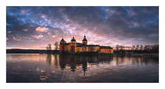 The castle of Gripsholm (Andreas Larzon Photography) Tags: andreaslarzon calmwater castle cloudy coast facadelighting gripsholm landscape landscapephotography lowclouds mariefred mirrorwater ocean reflections sea seascape serene shoreline smoothwater sunset sweden twilight wamlight water atmospheric house seaside panorama hdr fujixt1 bluehour