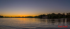 Panoramic Sunset At Vaal River (Paul Saad) Tags: johannesburg nikon clouds city sky park sunset sunrise colors dusk tree wood red forest vaal river dawn water lake dam serene boat
