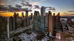 Sunset, New York City (AreKev) Tags: sunset sky skyscrapers westintimessquare westinhotel hotel room3702 hotelroomview hudsonyards hellskitchen clinton midtown midtownmanhattan manhattan newyork newyorkcity nyc america usa unitedstates unitedstatesofamerica nikond7100 nikon d7100 sigma 1020mm 1020mmf456exdchsm aurorahdr2019 hdr aurorahdr