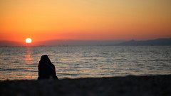 Our ancholytic... (Michael Kalognomos) Tags: ancholytic anxiolytic greece athens woman girl life peace hope sky sun goldenhour landscape ef100mmf28l canoneos5dmarkiii beach floisvos seaside islands