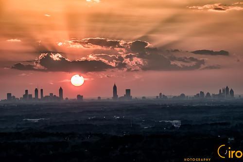 Sunset over the Entire Atlanta Skyline on 2-22-18
