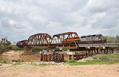 Brazos Bridge (Jacob Narup) Tags: train trains railfan railroad railfanning texas kcs kansascitysouthern kcs2805 richmondtx richmond richmondtexas brazos brazosriver trainbridge bridge