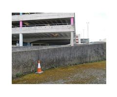 car park cone (chrisinplymouth) Tags: wall carpark cone westernapproach plymouth devon england uk cw69x desx diagx concrete architecture xg diagonal