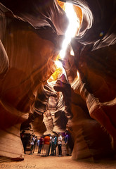 Tour... Upper Antelope Canyon (Ed.Stockard) Tags: upperantelopecanyon canyon sand sandstone az tours antelopecanyon slot slotcanyon tourist tourism arizona