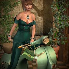 Until the end of the world with my Vespa! (MISS VIRTUAL ♛ WORLD 2018 - Shantal Gravois) Tags: swankevent zuri my bags alantori