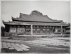 Hotz collection: Guangzhou Quang-How Temple, ca. 1870 (Charles in Shanghai) Tags: charles shanghai albert hotz albertus paulus hermanus holland china trading company handelscompagnie rotterdam universiteit leiden university bibliotheek bijzondere collecties special collections early photography libslibs librariesandlibrarians hchc haagsche courant nrc delphernl perzië john thomson london mattie boom rijksmuseum everyoneaphotographer exhibition gwulo guangzhou kanton canton bw blackandwhite monochrome chinese temple chungsow