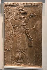 Eagle-headed Protective Spirit (c. 865-860 BC) (Bri_J) Tags: britishmuseum london uk museum historymuseum nikon d7500 eaglehead protectivespirit assyrian nimrud templeofninurta assyrianart