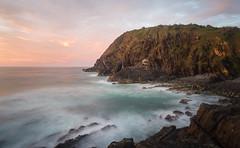 Crescent Head Dawn Big Nobby (laurie.g.w) Tags: bignobby crescenthead nsw coast water ocean rocks coastline shoreline headland waves sky cloud beach nikond610 australia longexposure dawn