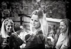 women (grizzleur) Tags: street streetphotography streetportrait streetcandid candid candidportrait woman women lady ladies girl girls fun pretty beautiful sweet smile smiles hair reflections bokeh bw mono monochrome olylove olympus omd omdstreetphotography moment contrast olympusomdem10mkii olympusm45mmf18 olympusmzuiko45f18