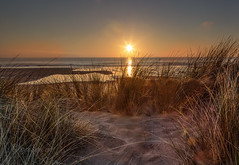 Dune view (Through Bri`s Lens) Tags: northdevon croydebay croyde sanddunes grasses sand sunset skies leereversegrad canon5dmk3 canon1635f4 brianspicer windy surf waves swell beach beachphotography
