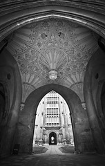 Cambridge (Ela Dzimitko) Tags: england cambridge architecture arch rosette gothic gate blackandwhite bw blackwhite old town roof dome university eladzimitko stunningoutdoors canon5dmk4 canon1635f4 column ornaments urban city monument
