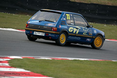 Classic Stock Hatch Championship - 205 GTi ({House} Photography) Tags: 750 motor club classic stock hatch championship hot racing race motorsport sport car automotive brands uk kent fawkham track indy circuit housephotography timothyhouse canon 70d sigma 150600 contemporary peugeot 205 gti french
