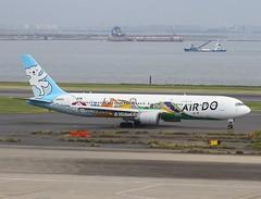 Air Do                                      Boeing 767                                  JA602A (Flame1958) Tags: airdo airdob767 boeing b767 767 ja602a hnd haneda tokyohaneda hanedaairport 191016 1016 2016 3063