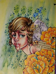 Strange Adventures-Emilys Drawing (limerickme) Tags: mixed media art journal