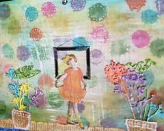 Miss Flowers (limerickme) Tags: mixed media art journal