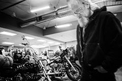 GR007640-Edit-2 (alhawley) Tags: bw usa biker blackandwhite blur candid everytownusa grain gritty harleydavidson highcontrast monochrome ricoh ricohgrii street streetphotography