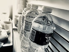 Bedside Hydration.... 105/365 (Leslie P. H.) Tags: bedroomwindowsill bedside waterbottles project365 365project 105365