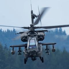 TOO LATE TO RUN... (Re-Edit) (Kaiserjp) Tags: 1109017 ah64 ah64e armycopter19017 apache ftlewis grayaaf jblm usarmy