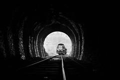 TSP 7385 Purnode (Davy Beumer) Tags: tsp pft sncb nmbs purnode l128 chemin du fer de bocq tunnel blackwhite