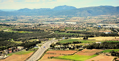 Penedes Region, Catalonia (M McBey) Tags: penedes catalonia catalunya spain wine fields road mountain trees vilafranca