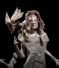 ORIGAMI- MOTHER OF DRAGONS/KHALEESI/ (Daenerys Targaryen) (GOT)! (Neelesh K) Tags: origami khaleesi mother dragons daenerys targaryen queen game thrones character 48 grids boxpleating tracing paper folding neeleshk