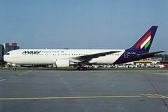 MALEV Hungarian Airlines B-767-300ER (postcard) (KristofCs) Tags: halhc malev 767 boeing 767300 postcard marcelwalther zürich