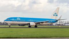 Boeing 737-8K2(WL) PH-BXG KLM Royal Dutch Airlines (William Musculus) Tags: plane spotting aviation airplane airport william musculus amsterdam schiphol ams eham polderbaan phbxg klm royal dutch airlines boeing 7378k2wl kl 737800