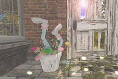 Rabbits love Easter eggs (Rose Sternberg) Tags: second life deco decor home garden marketplace aphrodite shop easter rabbit egg eggs