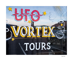 Vortex (agianelo) Tags: window sign ufo tours arizona