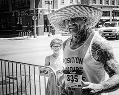 Marathon Man (alhawley) Tags: american americana bw usa blackandwhite candid everytownusa fujifilmxpro2 fujinonxf35mmf2rwr monochrome street streetphotography tattoo