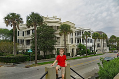 carsonrow (FAIRFIELDFAMILY) Tags: charleston sc south carolina southern architecture design column building ocean coast coastal history historic cannon mortar balls park child boy young old granite post office cobblestone road walking live oak civil war artillery family vacation explore house home rainbow row