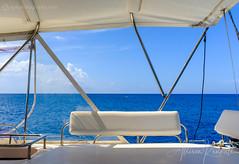 Catamaran cruise, Barbados (Allison Kendall) Tags: barbados cruise sail catamaran caribbean sea ocean horizon blue calm relaxation travel seascape yacht luxury warm peaceful tropical island lifestyle vacation