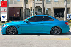 Sidepicture_website (Miami AutoSport) Tags: bmw m4 vossen vossenwheels hf3 hybrid forged michelin ps4s pilot sport 4s tires anthracite wheels unlimited wraps