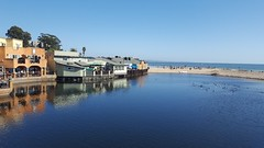 Capitola Reflection (John of Witney) Tags: sea beach river reflection blue capitola california usa boardwalk