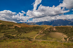 Incas traces (Andrea Gambadoro) Tags: yellow landscape peru south america photography photographer canon 5d markiii clouds hdr highdynamic range nature wild natgeo national geographic ruins travel