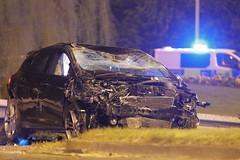 Write Off (Yorkshire Pics) Tags: 1704 17042019 17thapril 17thapril2019 carcrash caraccident roadtrafficcollision roadtrafficaccident garforth incident writeoff damage damaged