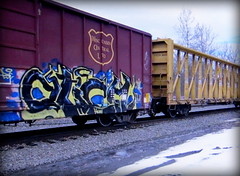 (timetomakethepasta) Tags: esc freight train graffiti art wc boxcar wisconsin central