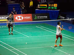 P4140593 (gprana) Tags: anthonysinisukaginting badminton em5 kentomomota micro43 microfourthirds olympus olympusmzuikodigitaled75300mmf4867ii olympusomdem5 singapore singaporebadmintonopen2019 singaporeindoorstadium m43