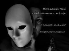 106.365.2019 (sadandbeautiful (Sarah)) Tags: mask bw 365days 365 day106 dailyselfportrait selfportrait self female woman me