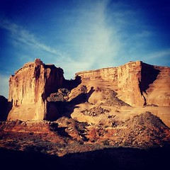 Monumental (Robert_Brown [bracketed]) Tags: robertbrown arches nationalpark archesnationalpark moab utah rocks formations color photo photograph silvercityphotographer thesilvercityphotographer squareformat square instagram southwest desert cellphone samsungs8 s8
