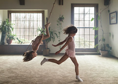 Family room circus (trois petits oiseaux) Tags: kids childhood swing twins