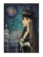 DreamTime (jimlaskowicz) Tags: jimlaskowicz artistic unicorn moon painterly impressionistic surreal textures art night dark dream