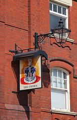 English Pub Sign - The Crown, Crewe (big_jeff_leo) Tags: pub pubsign publichouse sign streetart street cheshire crewe england english