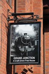 English Pub Sign - Grand Junction, Crewe (big_jeff_leo) Tags: pub pubsign publichouse sign streetart street cheshire crewe england english