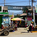 Busy entrance to the market in Nyaungshwe, Myanmar