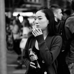 Inhale (McLovin 2.0) Tags: people portrait candid urban city cigarette smoke smoking melbourne olympus street streetphotography em1 45mm bokeh