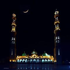 Hurghada_Moschee_Al_Mina_1a_tx_DSC_0198_ShiftN (said.bustany) Tags: 2019 april ägypten hurghada egypt public mosque moschee almyna nacht night moon مسجد الميناء الكبير الغردقة مصر