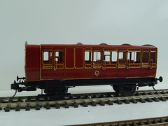 DSC00012 (BluebellModelRail) Tags: lbscr londonbrightonsouthcoastrailway oo 4mm roxeymouldings brass bluebellrailway etchedkit solder 949 brakethird mahogany carriage 4wheeler southernrailway