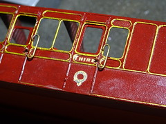 DSC00020 (BluebellModelRail) Tags: lbscr londonbrightonsouthcoastrailway oo 4mm roxeymouldings brass bluebellrailway etchedkit solder 949 brakethird mahogany carriage 4wheeler southernrailway