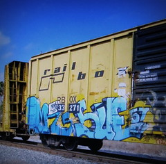 mr.9to5 - sue57 (timetomakethepasta) Tags: mr9to5 mr 9 5 sue sue57 57 100 freight train graffiti art railbox boxcar rbox one hundred percent